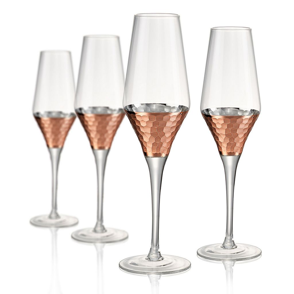 Artland Coppertino 4-pc. Hammer Champagne Flute Set
