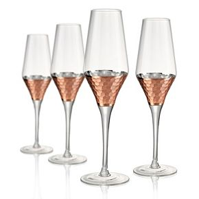 Artland Coppertino 4-pc. Hammer Champagne Flute Set