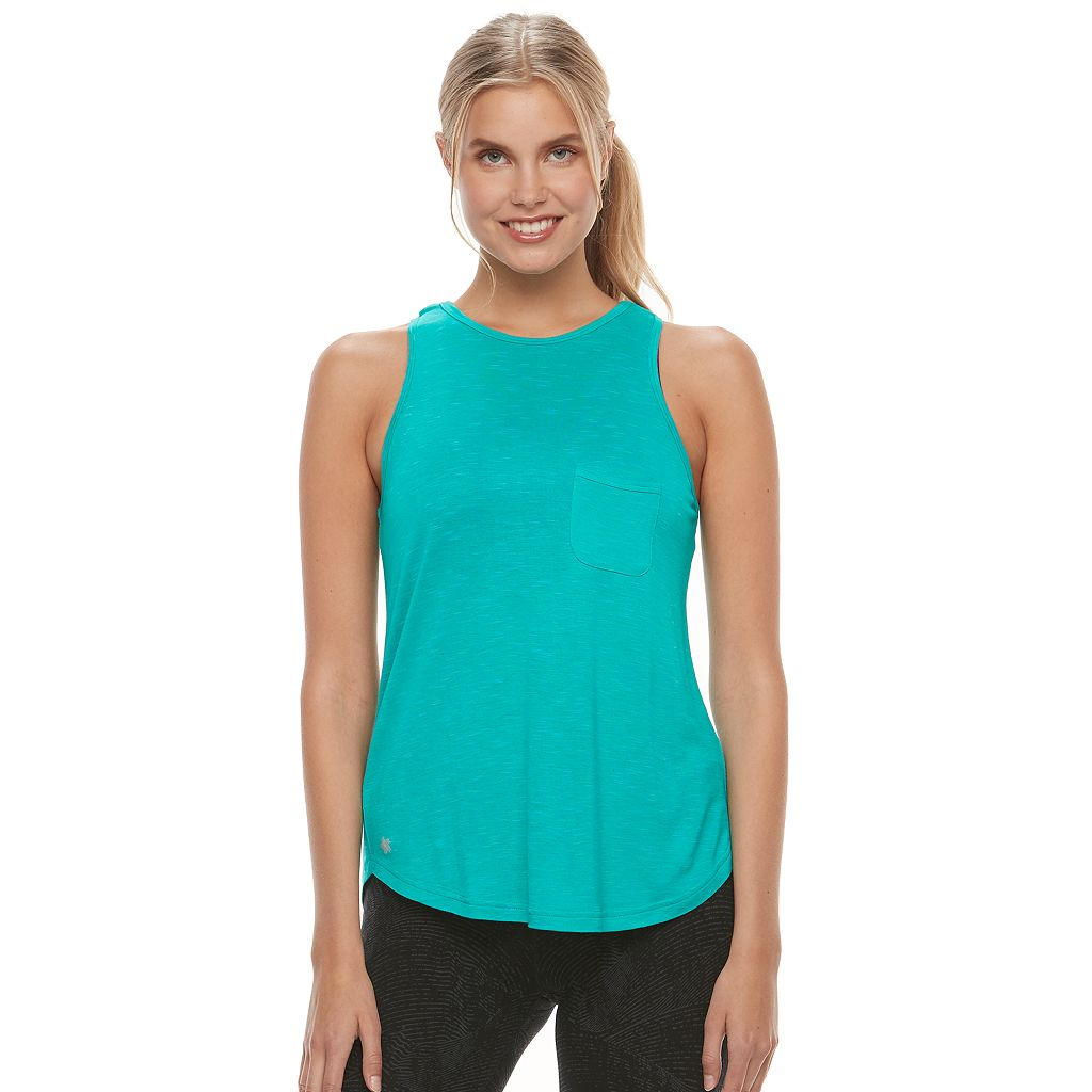 Women's Tek Gear® High Neck Pocket Tank