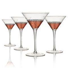 Artland Coppertino Hammer 4-pc. Martini Glass Set
