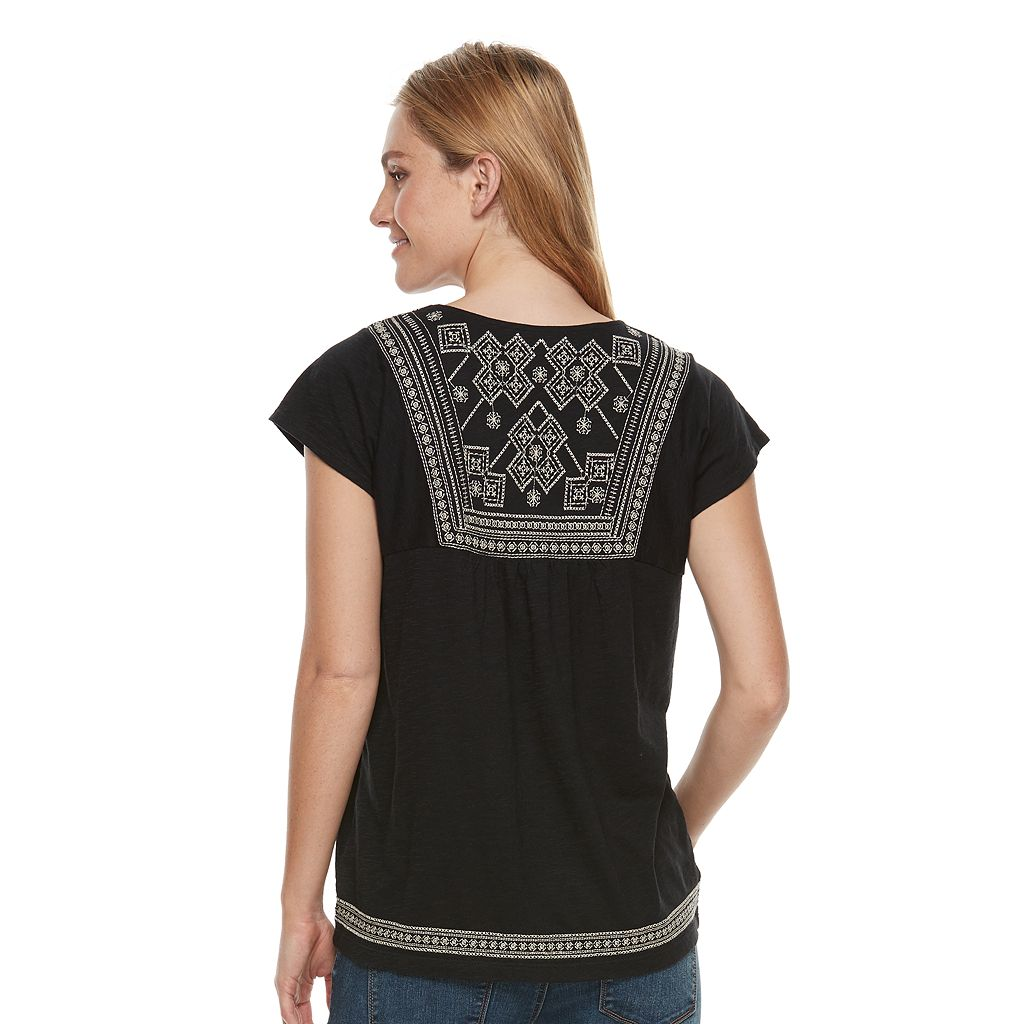 Women's SONOMA Goods for Life™ Embroidered Dolman Tee