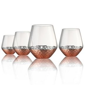 Artland Coppertino Hammer 4-pc. Double Old-Fashioned Glass Set