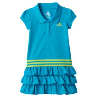 Toddler Girl adidas Ruffle Polo Dress