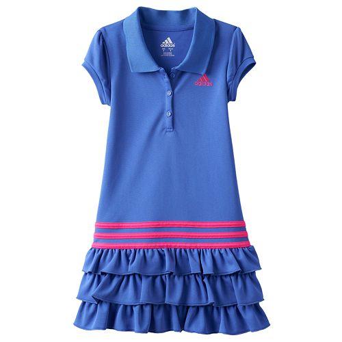 Toddler Girl adidas Ruffle Polo Dress