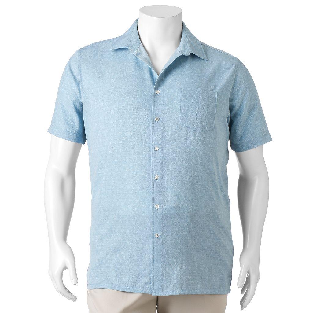Big & Tall Croft & Barrow® Classic-Fit Island Microfiber Button-Down Shirt