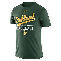Men's Nike Oakland Athletics Away Practice Ringspun Tee