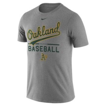 Men's Nike Oakland Athletics Away Practice Ringspun Tee