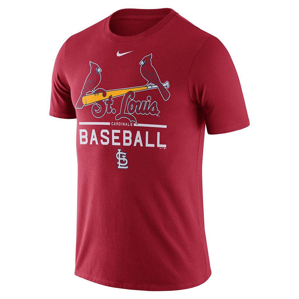 Men's Nike St. Louis Cardinals Away Practice Ringspun Tee