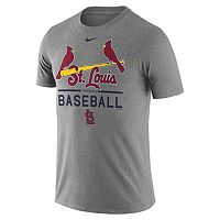 Men's Nike St. Louis Cardinals Away Practice Ringspun Tee
