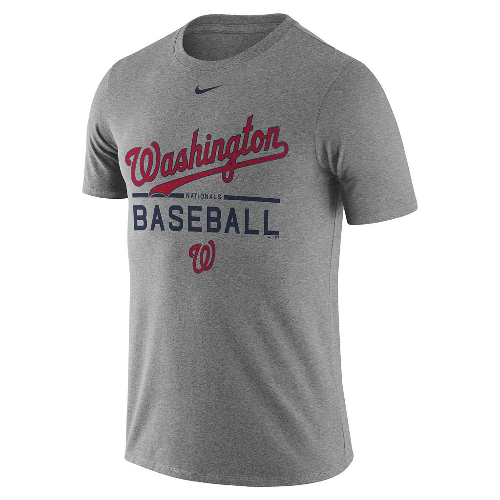 Men's Nike Washington Nationals Away Practice Ringspun Tee