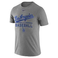 Men's Nike Los Angeles Dodgers Away Practice Ringspun Tee