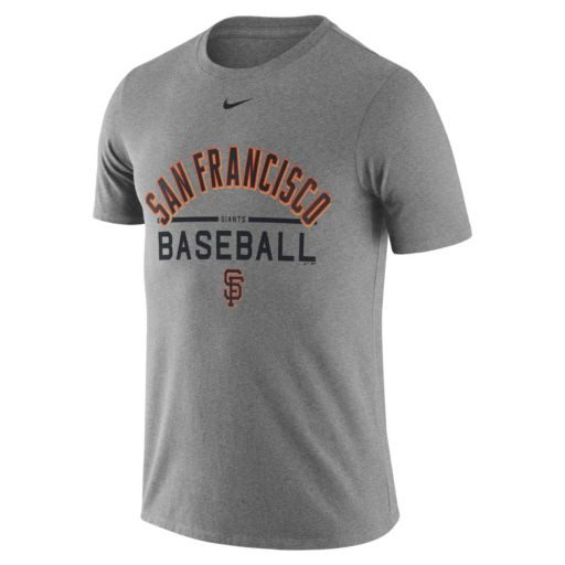 Men's Nike San Francisco Giants Away Practice Ringspun Tee