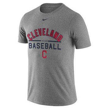 Men's Nike Cleveland Indians Away Practice Ringspun Tee