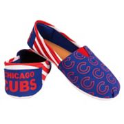 Women's Forever Collectibles Chicago Cubs Striped Canvas Shoes