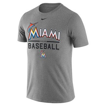 Men's Nike Miami Marlins Away Practice Ringspun Tee