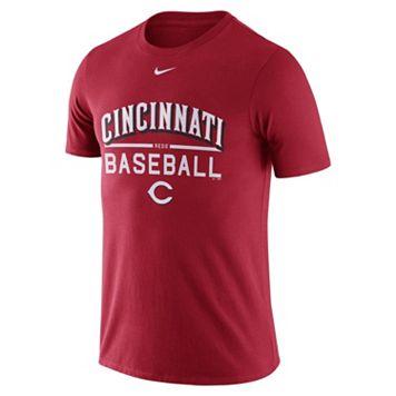 Men's Nike Cincinnati Reds Away Practice Ringspun Tee