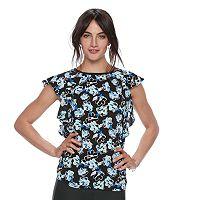 Women's ELLE™ Print Flutter Top