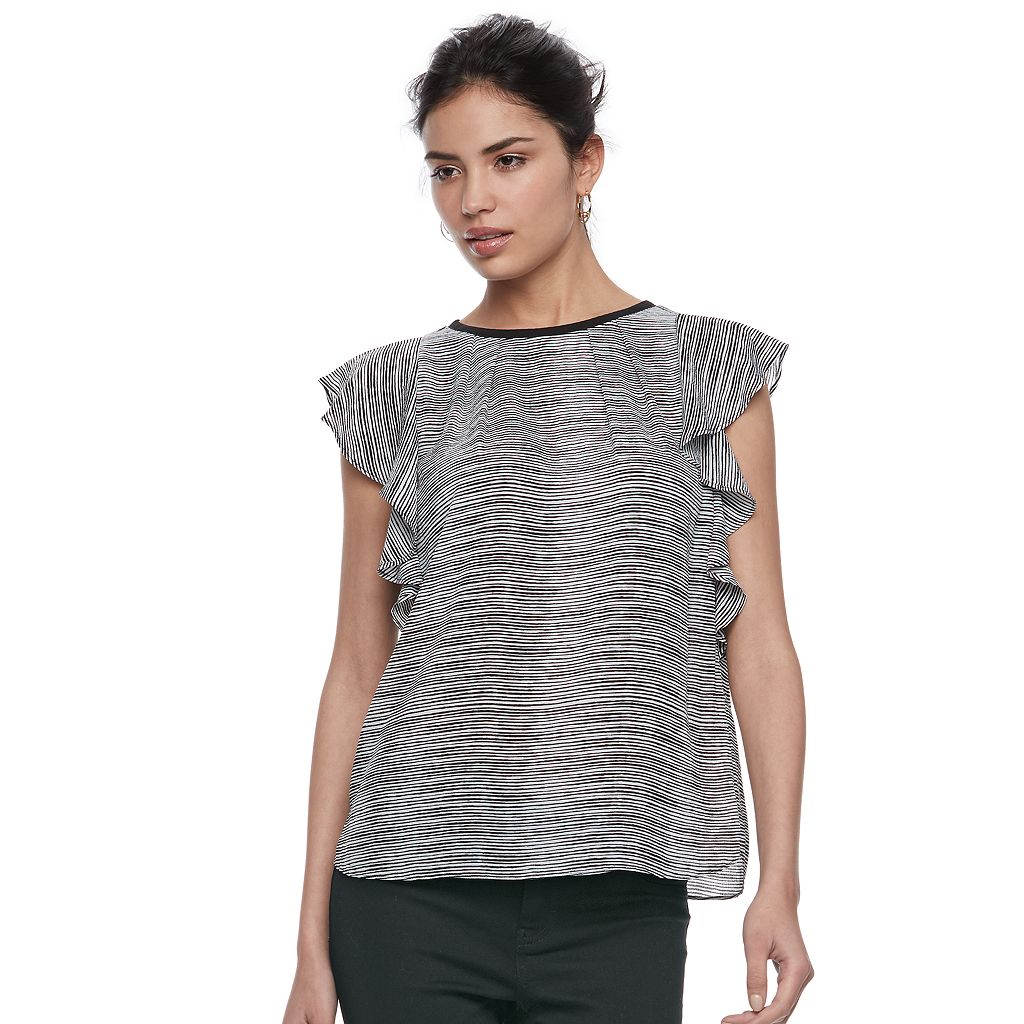 Women's ELLE™ Print Flutter Top