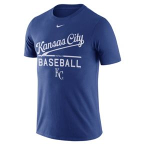 Men's Nike Kansas City Royals Away Practice Ringspun Tee