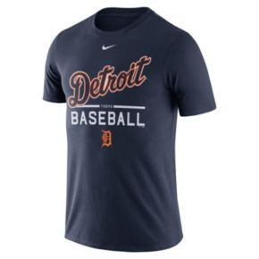 Men's Nike Detroit Tigers Away Practice Ringspun Tee