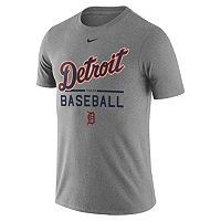 Men's Nike Detroit Tigers Away Practice Ringspun Tee