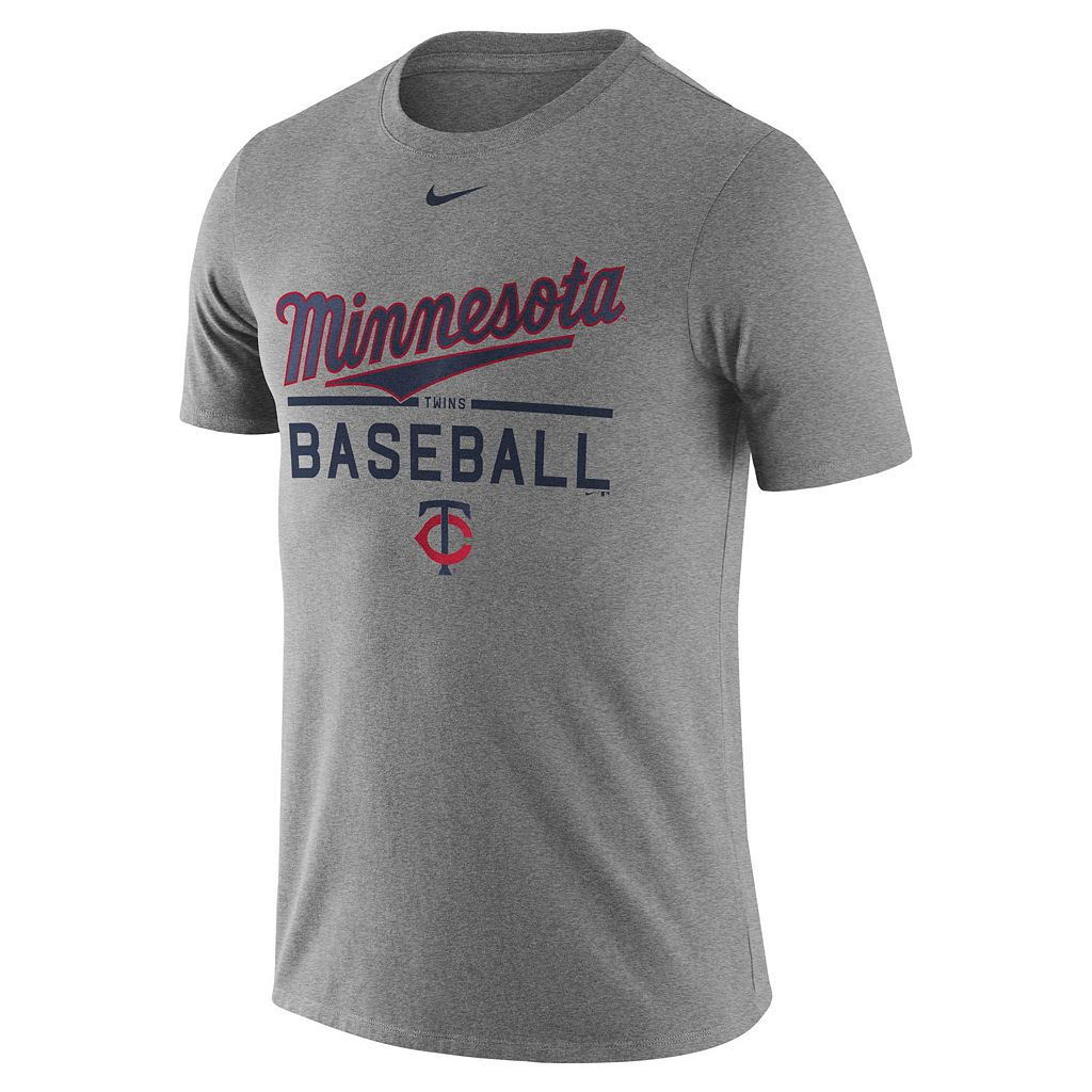 Men's Nike Minnesota Twins Away Practice Ringspun Tee
