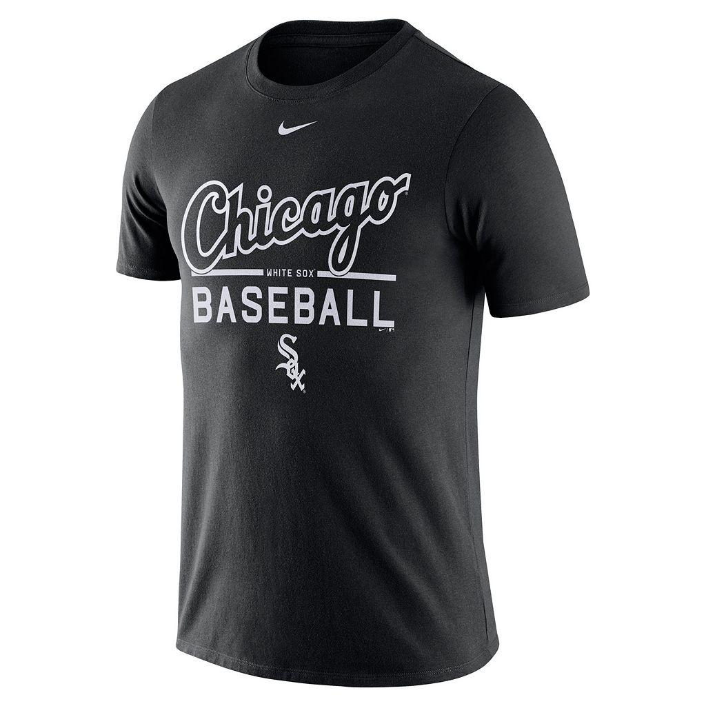 Men's Nike Chicago White Sox Away Practice Ringspun Tee
