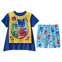 Toddler Boy PJ Masks Catboy, Gekko & Owlette 3-pc. Cape Pajama Set