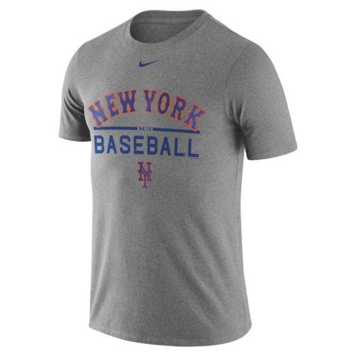Men's Nike New York Mets Away Practice Ringspun Tee