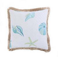 Del Ray Burlap Fringe Throw Pillow