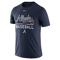 Men's Nike Atlanta Braves Away Practice Ringspun Tee