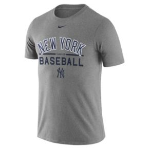 Men's Nike New York Yankees Away Practice Ringspun Tee