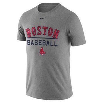 Men's Nike Boston Red Sox Away Practice Ringspun Tee
