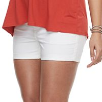 Maternity a:glow Belly Panel Cuffed Jean Shorts