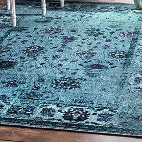 nuLOOM Giza Vintage Tosha Framed Floral Rug
