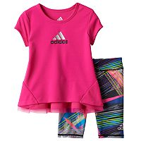Baby Girl adidas Graphic Tunic & Zebra Leggings Set