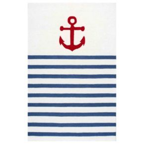 nuLOOM Thomas Paul Anchor Stripes Wool Rug
