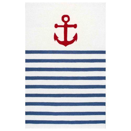 nuLOOM Thomas Paul Anchor Stripes Wool Rug
