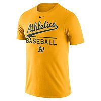 Men's Nike Oakland Athletics Practice Ringspun Tee
