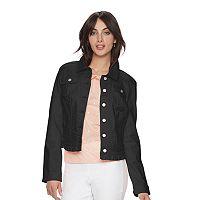 Women's ELLE™ Ruffle Jean Jacket