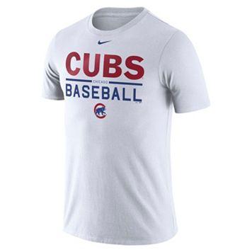 Men's Nike Chicago Cubs Practice Ringspun Tee