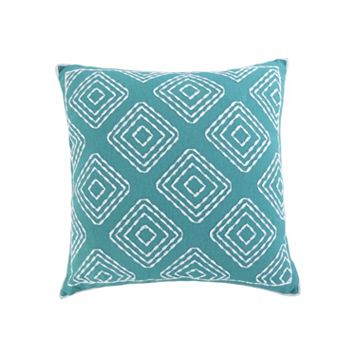 Del Ray Crewel Stitch Throw Pillow