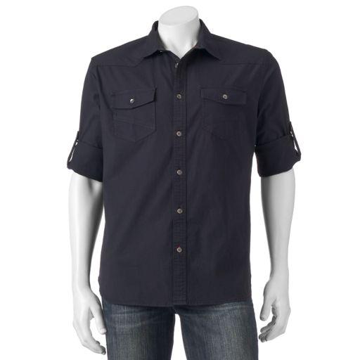 Big & Tall Rock & Republic Classic-Fit Roll-Tab Stretch Button-Down Shirt