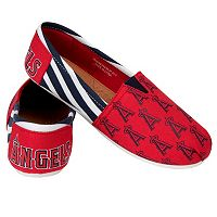 Women's Forever Collectibles Los Angeles Angels of Anaheim Striped Canvas Shoes