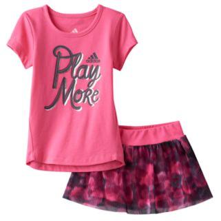 Baby Girl adidas Graphic Tee & Mesh Skort Set