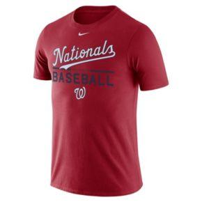 Men's Nike Washington Nationals Practice Ringspun Tee