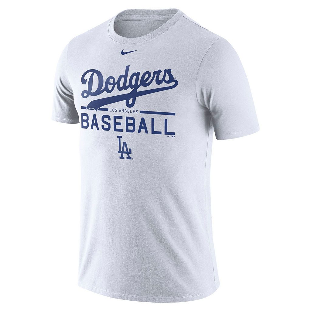 Men's Nike Los Angeles Dodgers Practice Ringspun Tee