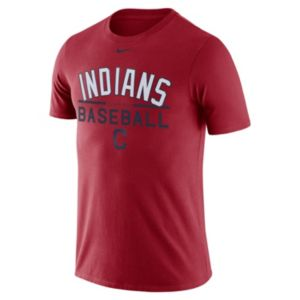 Men's Nike Cleveland Indians Practice Ringspun Tee