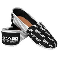 Women's Forever Collectibles Chicago White Sox Striped Canvas Shoes