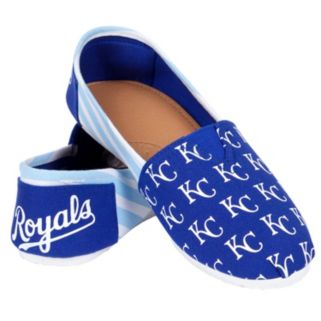 Women's Forever Collectibles Kansas City Royals Striped Canvas Shoes